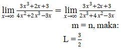 Contoh Soal Limit Fungsi Tak Hingga 2