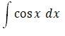 Integral Cos X