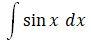 Integral Sin X