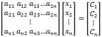 Matriks Persamaan Linear