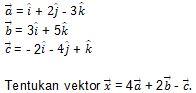 Contoh Soal Vektor no 1 Bagian 1