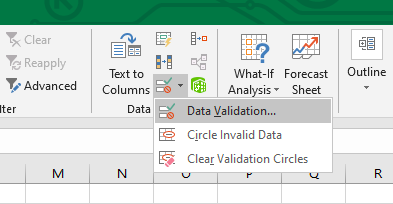 data validation excel